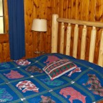 2i queen log bed